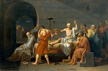 David_-_The_Death_of_Socrates This work is in the public domain in its country of origin and other countries and areas where the copyright term is the author's life plus 100 years or less.