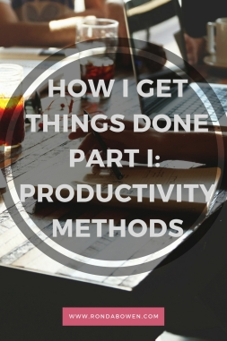 How I Get Things Done Part I- Productivity Methods
