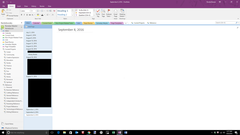 Getting Things Done With OneNote